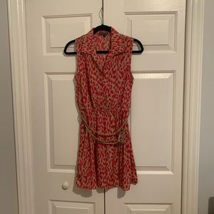 BeBop Cheetah Print Dress with belt